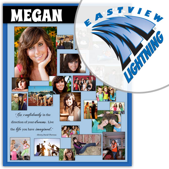 Create a High School Graduation Poster for your Eastview High School graduate!