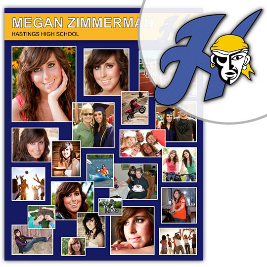 Create a High School Graduation Poster for your Hastings High School graduate!