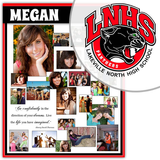 Create a High School Graduation Poster for your Lakeville North High School graduate!