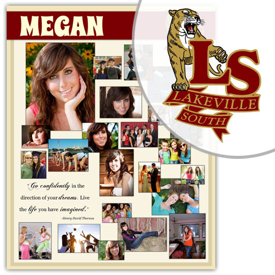 Create a High School Graduation Poster for your Lakeville South High School graduate!