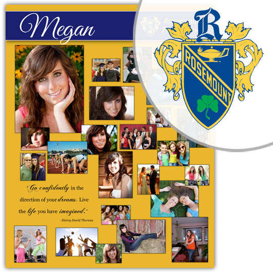 Create a High School Graduation Poster for your Rosemount High School graduate!