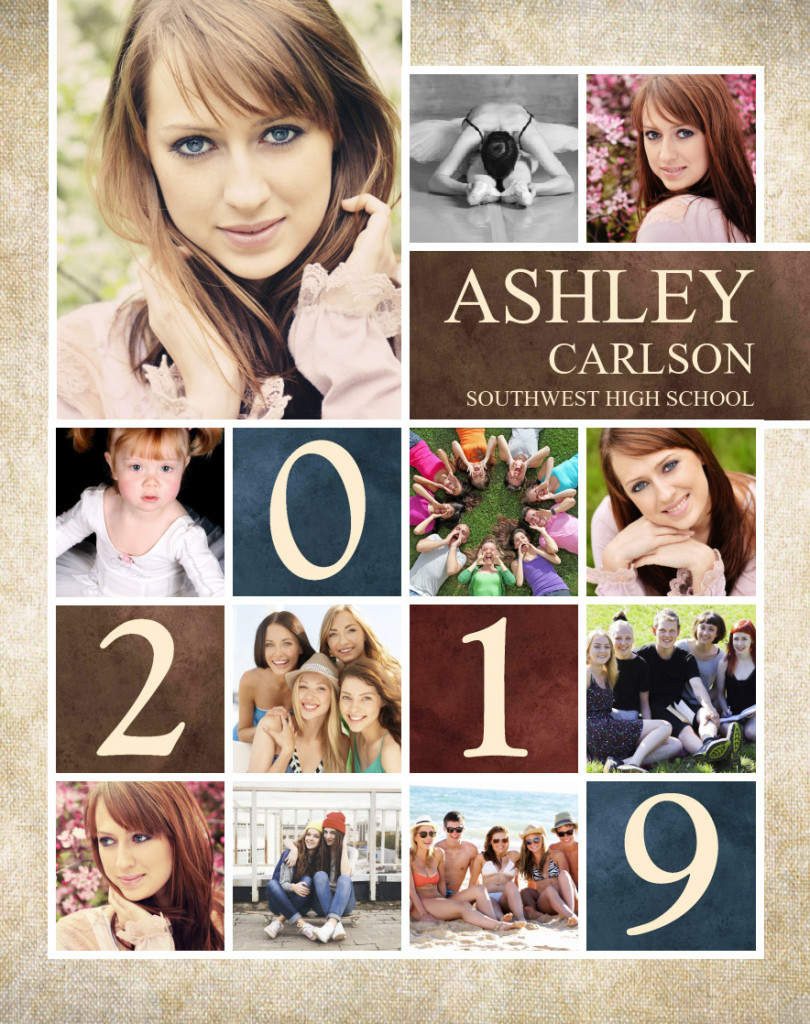High School Graduation Poster Designs 23x29