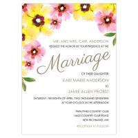 Focus in Pix Painted Poppies Wedding Invitation