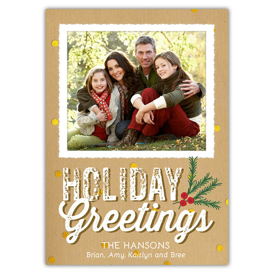 Craft Glitter (5x7) Holiday Christmas Card