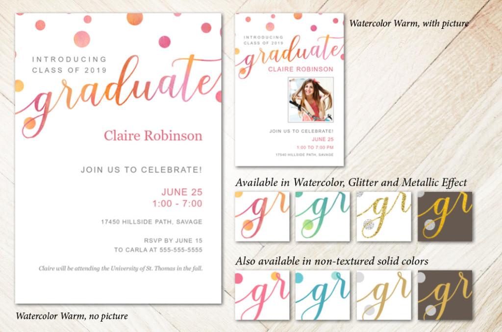 Bubbly Script - Focus in Pix Graduation Card