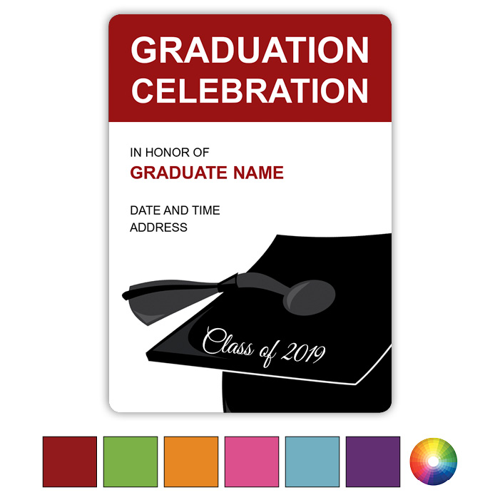 Grad Hat Impact - Focus in Pix Graduation Card