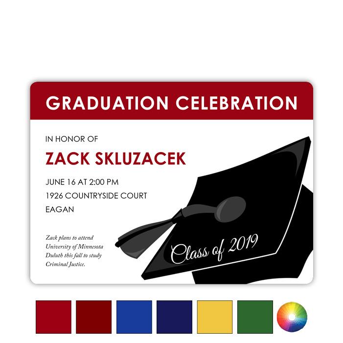 Grad Hat Impact - Focus in Pix Graduation Card