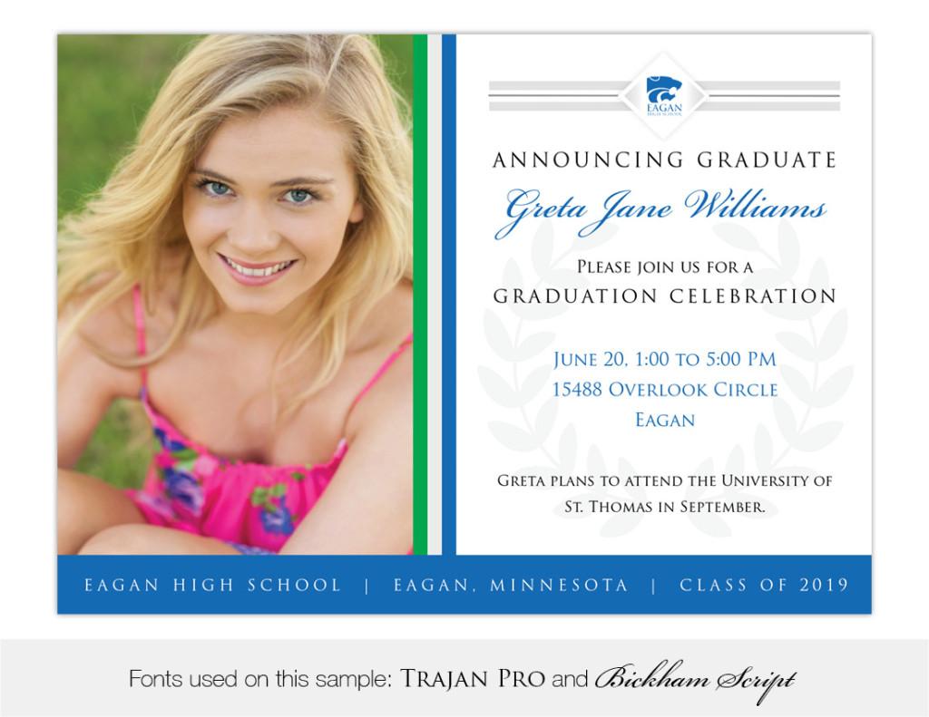 Legacy, Eagan High School Graduation Invitation