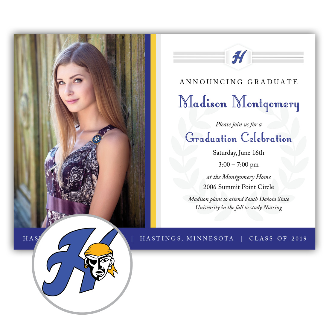 Legacy, Hastings High School Graduation Invitation