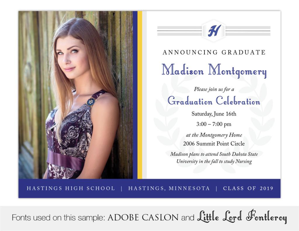 Legacy, Hastings High School Graduation Invitation