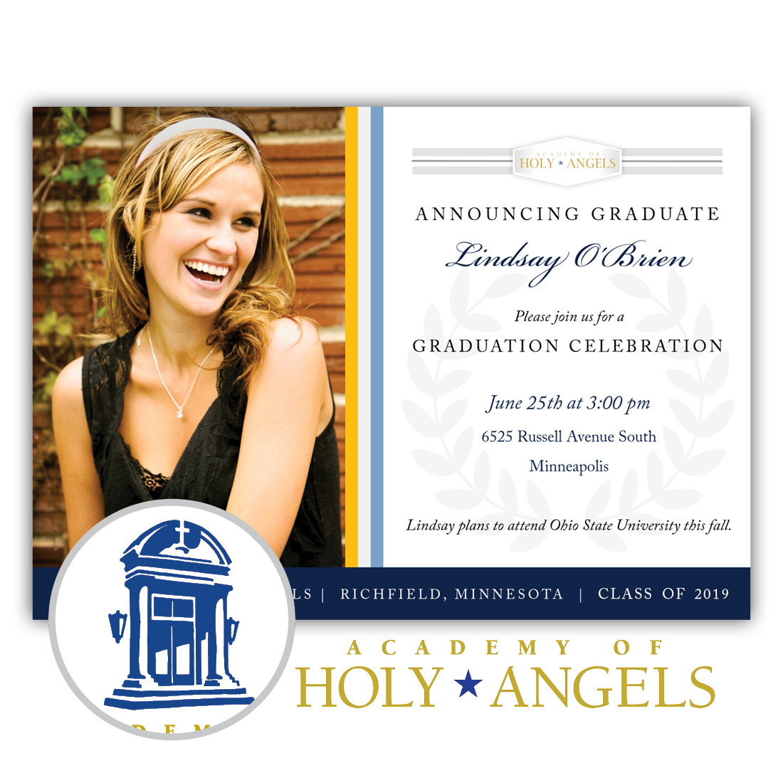Legacy, Academy of Holy Angels High School Graduation Invitation