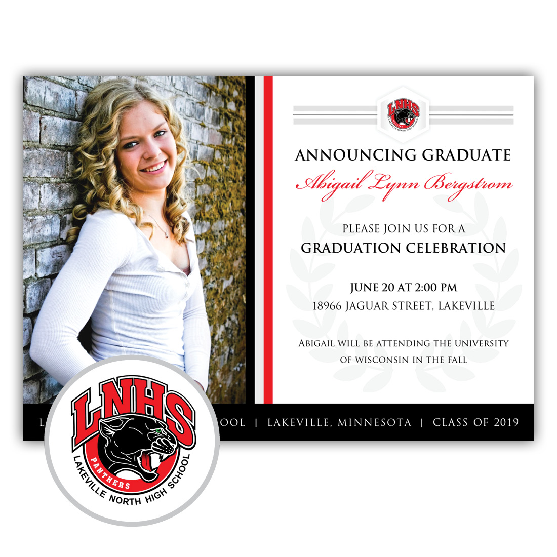 Legacy, Lakeville North High School Graduation Invitation