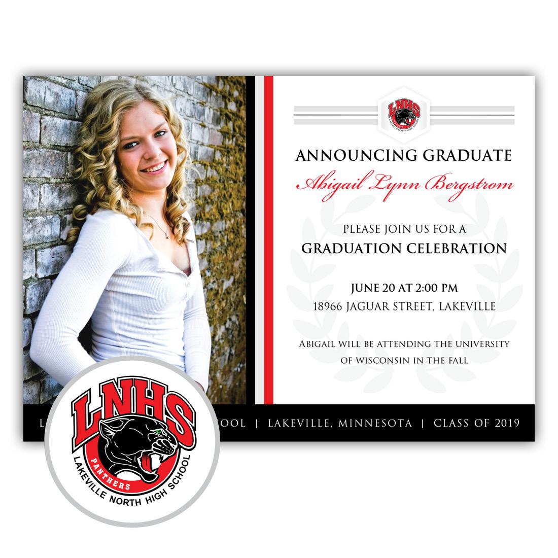 Legacy, Lakeville North High School Graduation Invitation