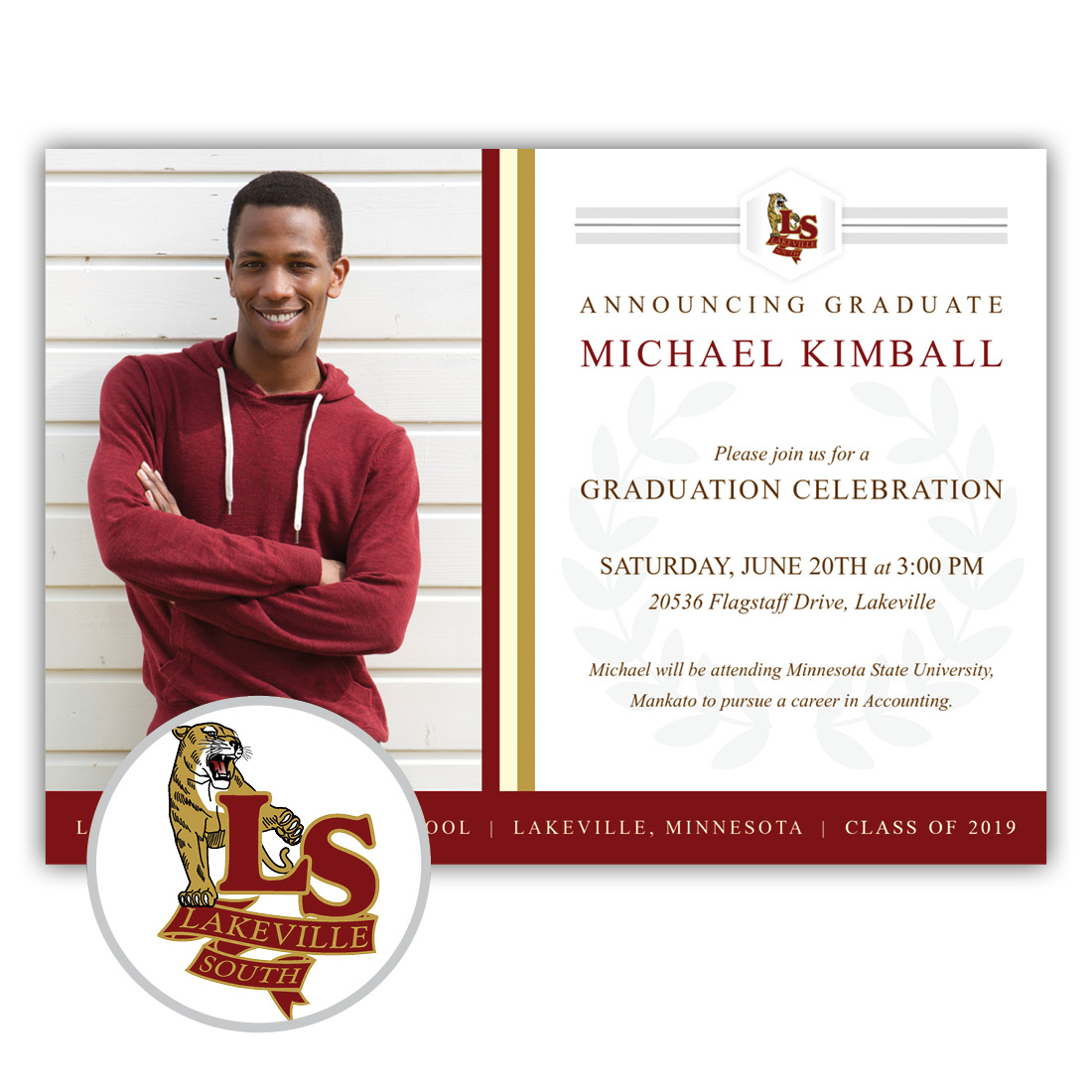 Legacy, Lakeville South High School Graduation Invitation
