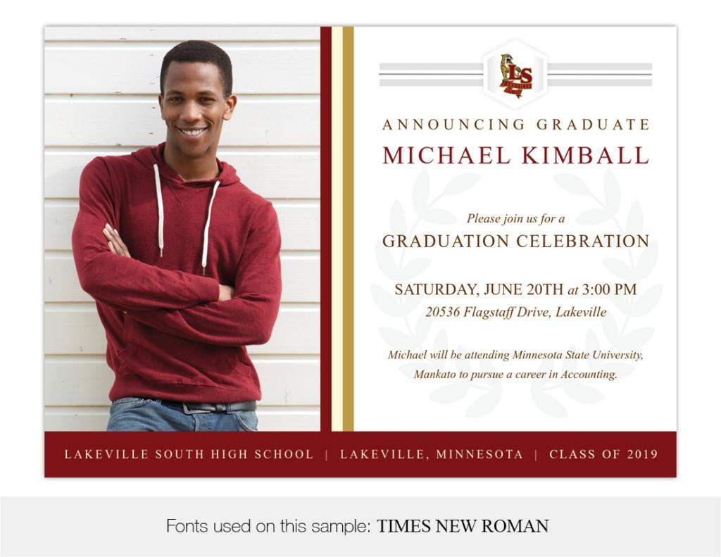 Legacy, Lakeville South High School Graduation Invitation