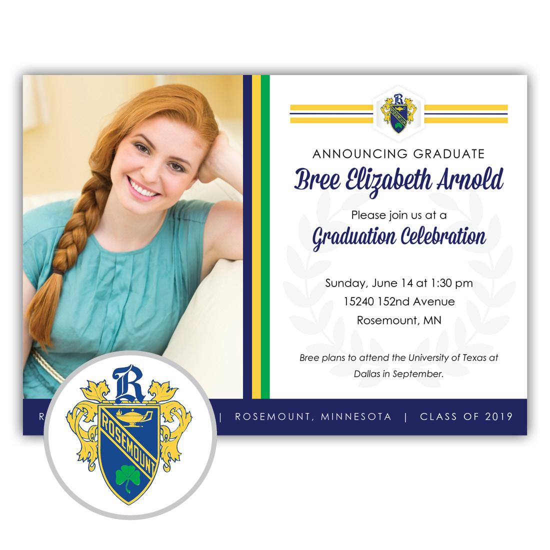 Legacy, Rosemount High School Graduation Invitation