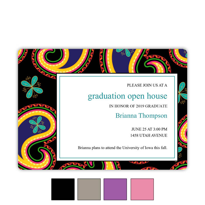 Paisley Patch - Focus in Pix Graduation Card
