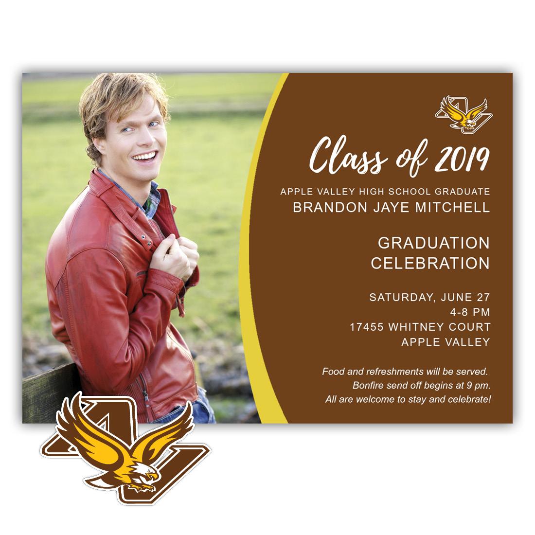 School Spirit, Apple Valley High School - Focus in Pix Graduation Party Invitation or Announcement