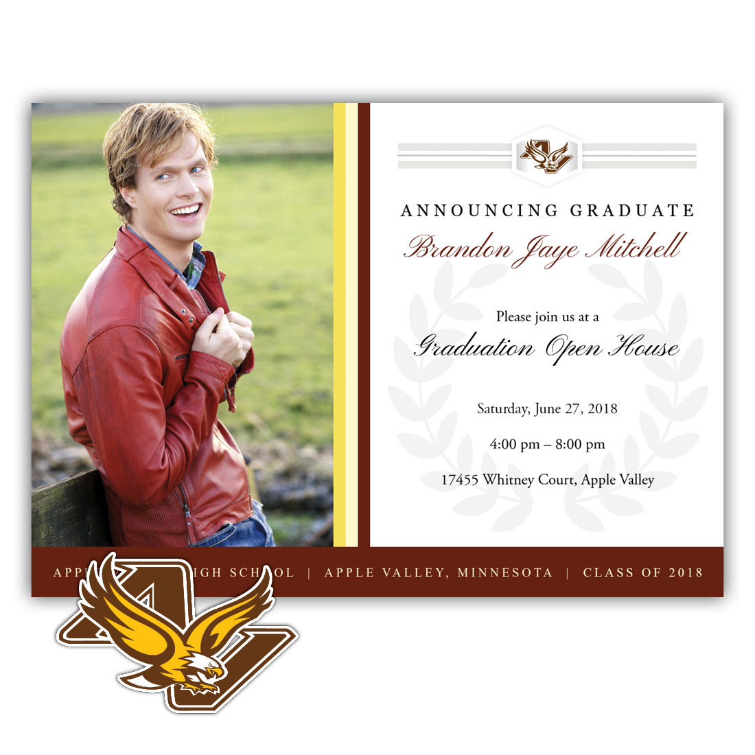 Legacy, Apple Valley High School Graduation Invitation