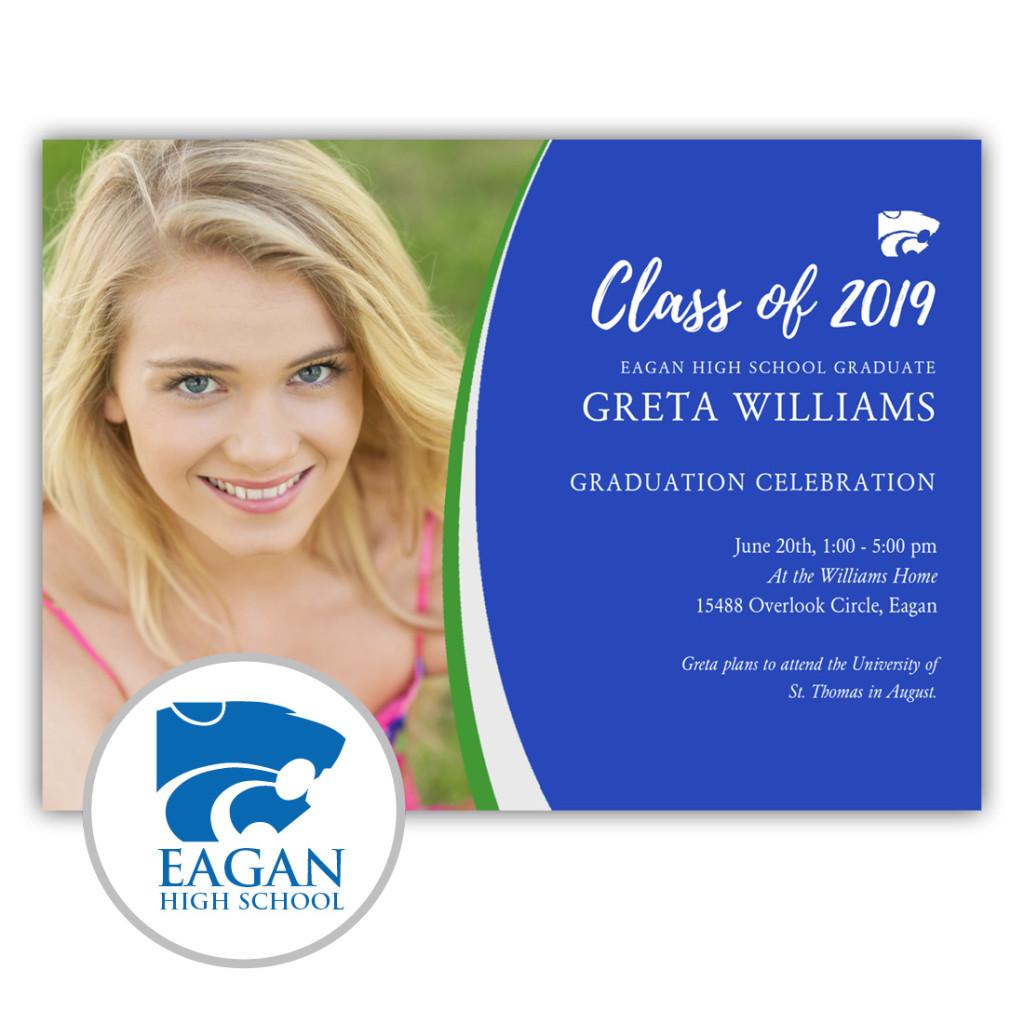 Eagan High School - Focus in Pix Graduation Invitation or Announcement