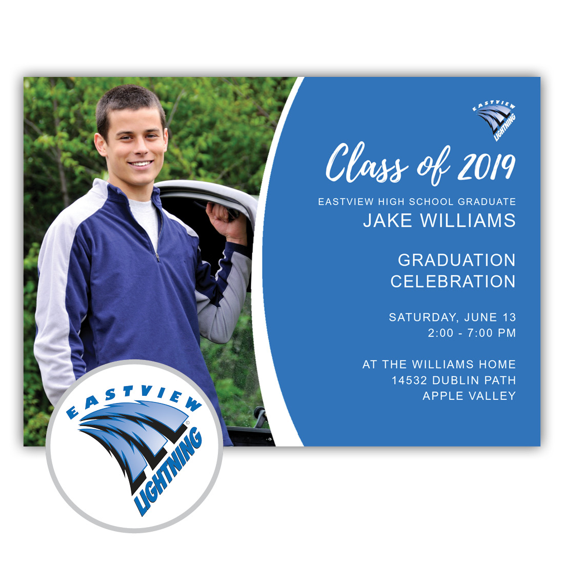 School Spirit, Eastview High School - Focus in Pix Graduation Party Invitation or Announcement