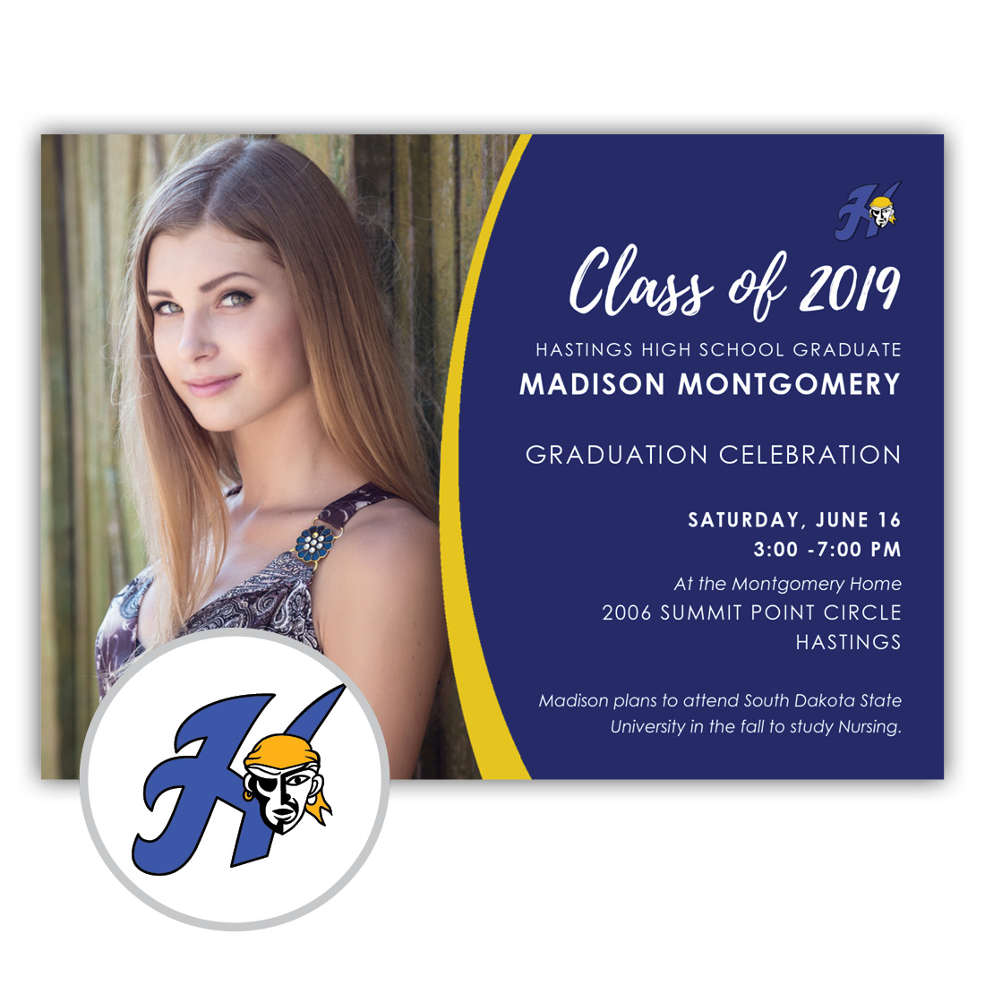School Spirit, Hastings High School - Focus in Pix Graduation Party Invitation or Announcement