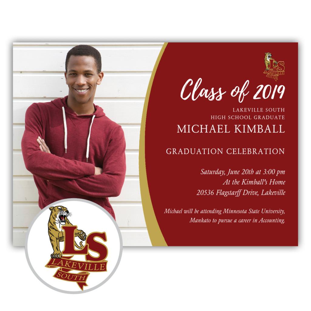 School Spirit, Lakeville South High School - Focus in Pix Graduation Party Invitation or Announcement