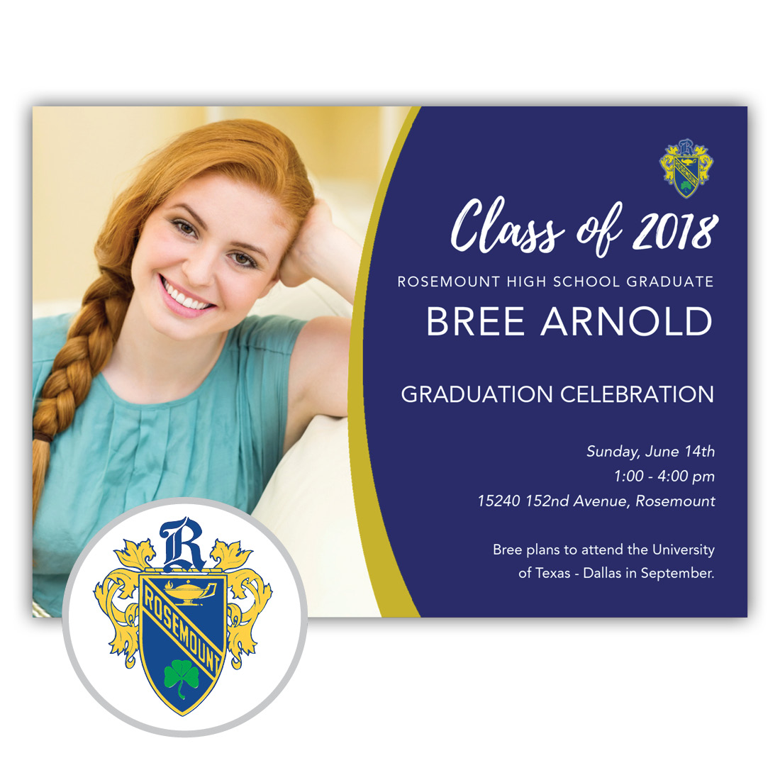 School Spirit, Rosemount - Focus in Pix Graduation Party Invitation or Announcement