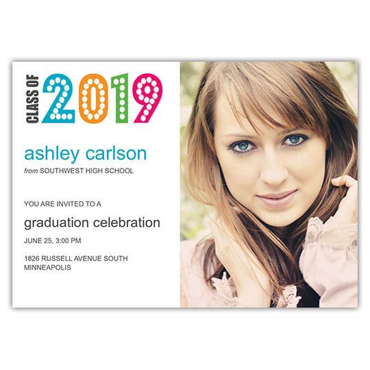 Simply Colorful - Focus in Pix Graduation Card