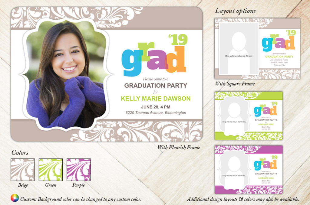 Big Bold Flair - Focus in Pix Graduation Card