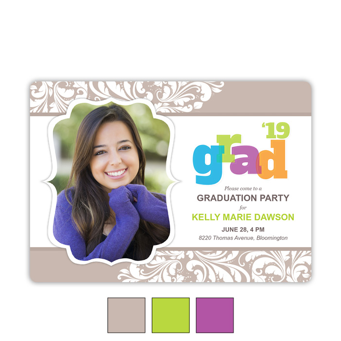Big Bold Flair - Focus in Pix Graduation Card