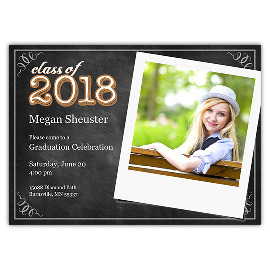 Chalkboard Snaps - Focus in Pix Graduation Card