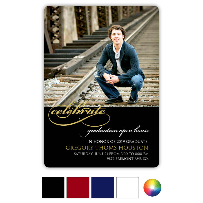 Classic Celebrate - Focus in Pix Graduation Card