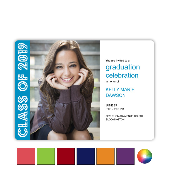Color Blocks - Focus in Pix Graduation Card
