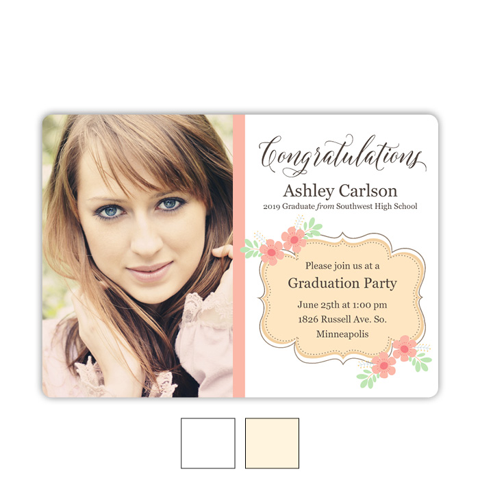 Flower Party - Focus in Pix Graduation Card