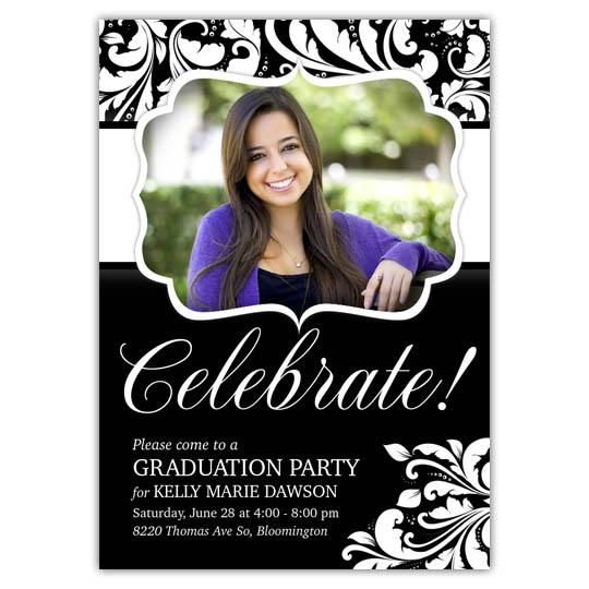 Modern Flair Graduation Invite and Announcement