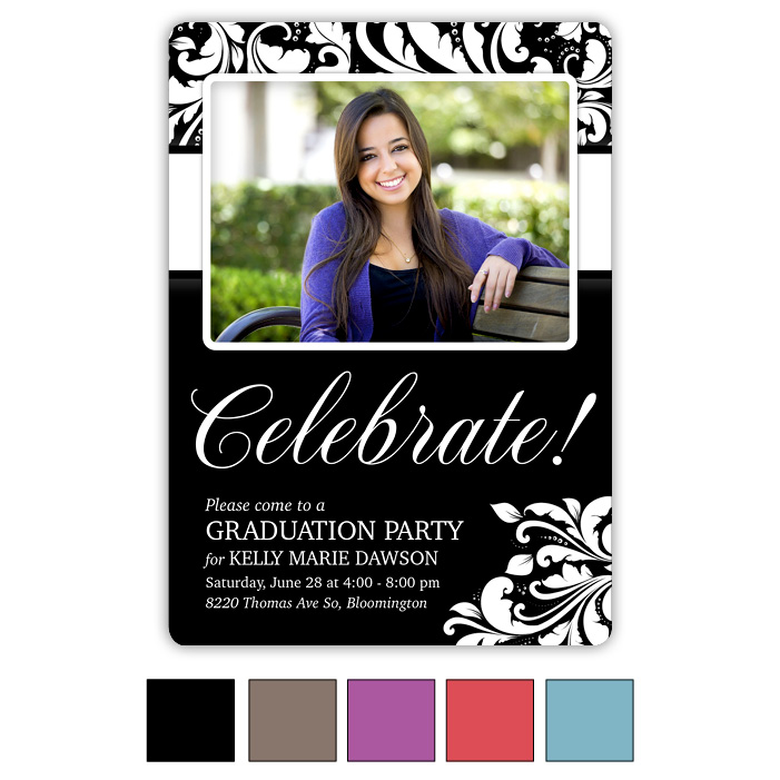 Modern Flair Graduation Invite and Announcement