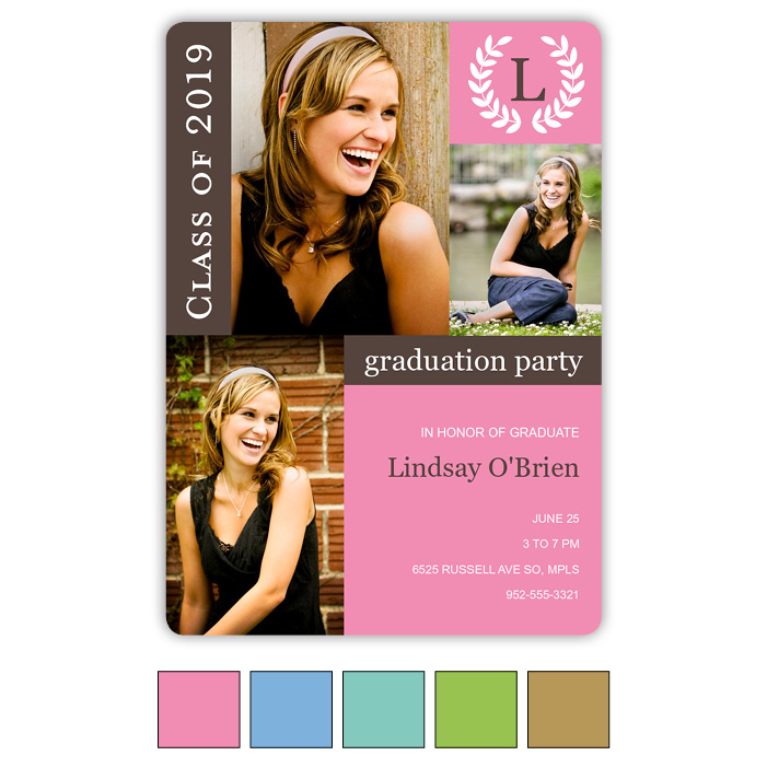 Monogram Blocks - Focus in Pix Graduation Card