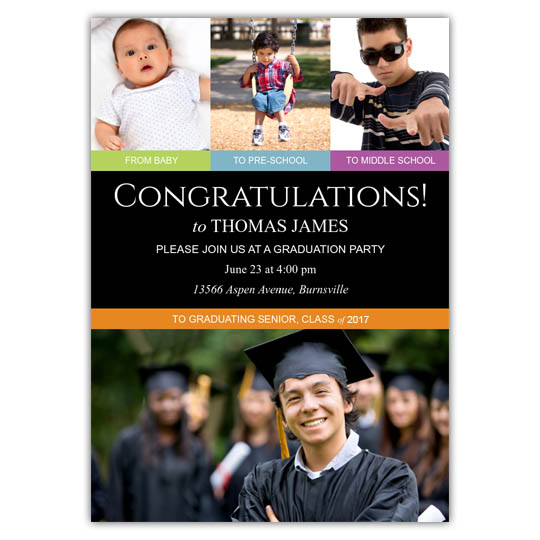 Through the Years - Graduation Invite and Announcement