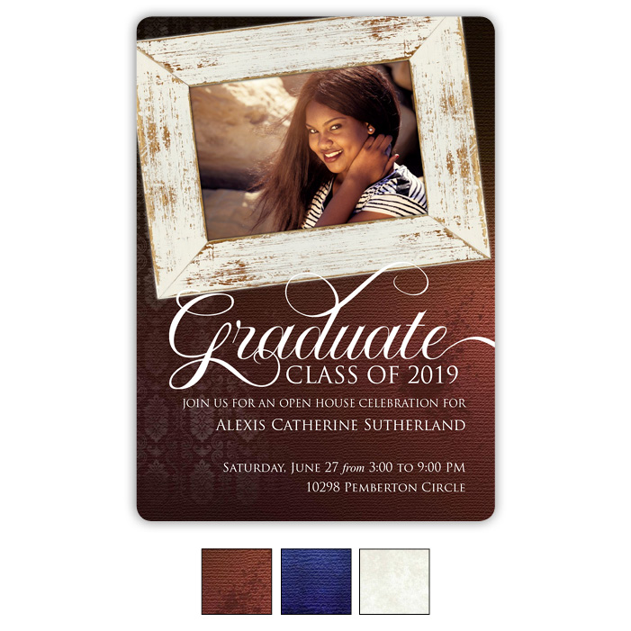 Vintage Frames - Focus in Pix Graduation Card
