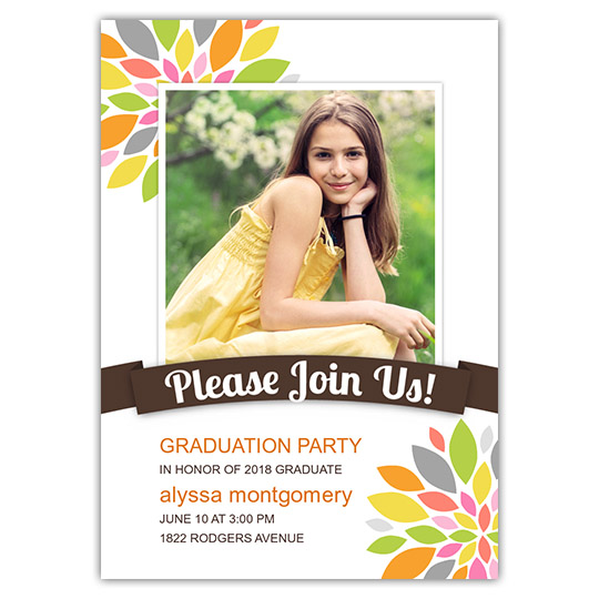 Colorful Peony - Focus in Pix Graduation Card