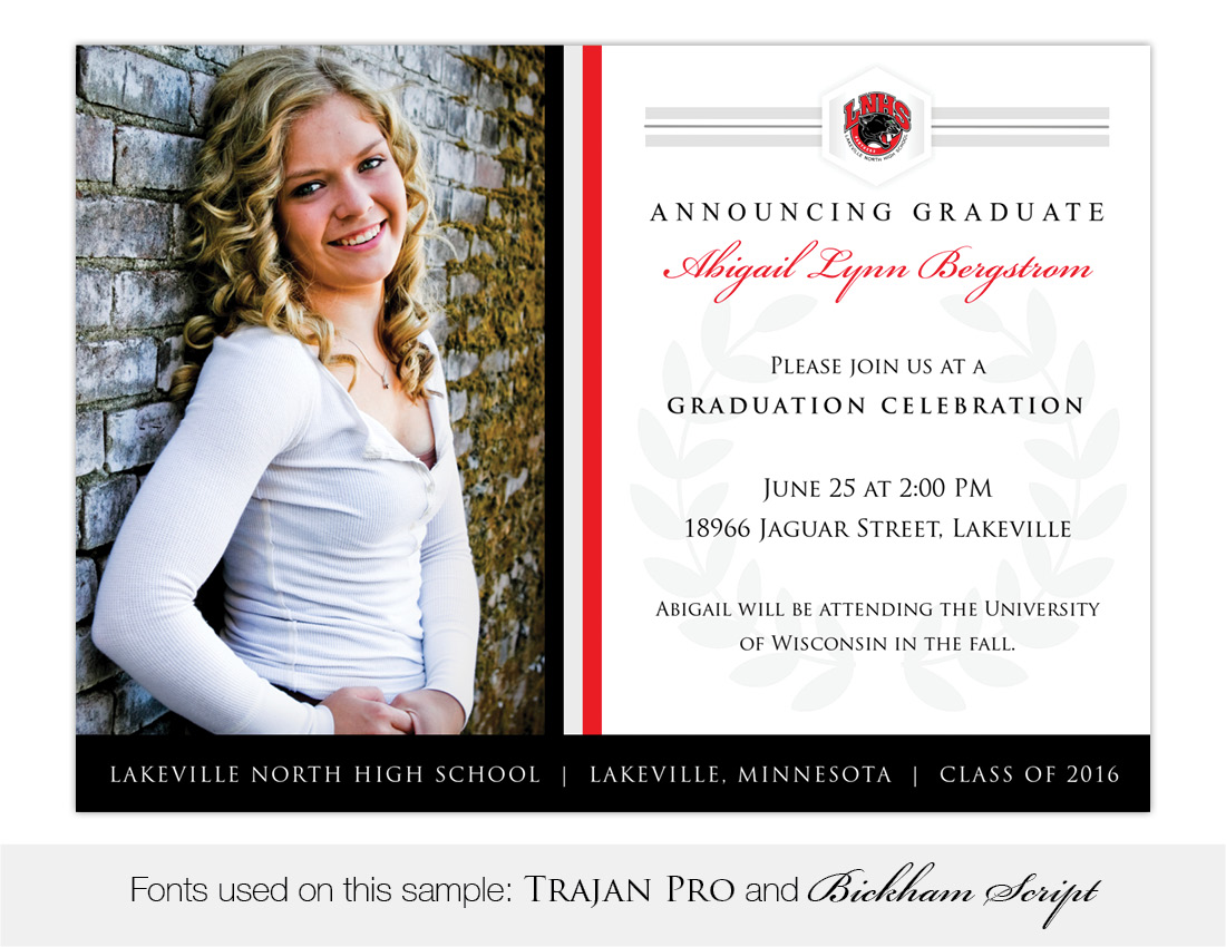 legacy lakeville north high school graduation invitation - High School Graduation Invitation