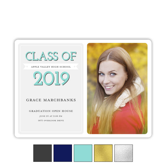 Modern Banner - Focus in Pix Graduation Card