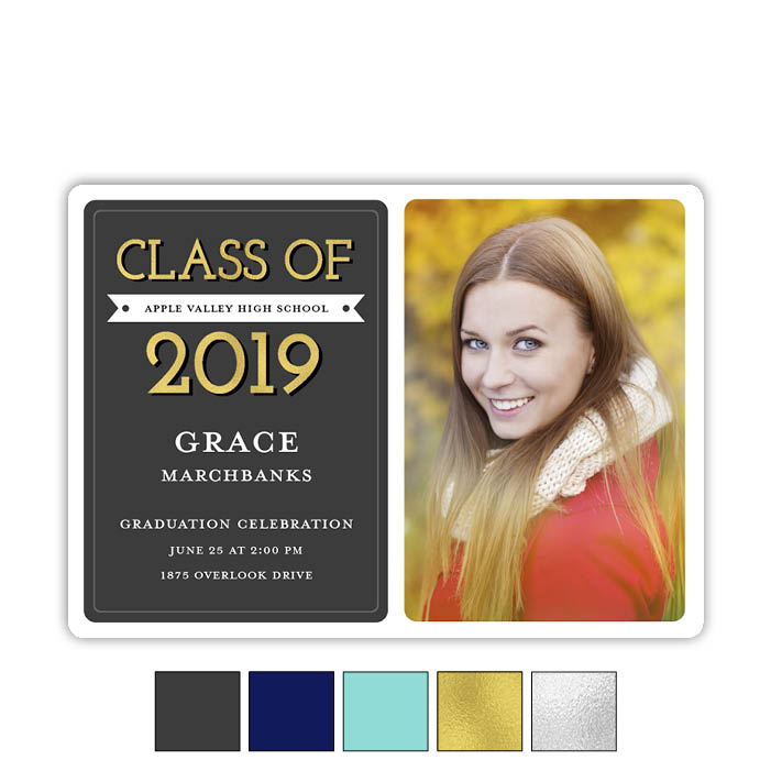 Modern Banner - Focus in Pix Graduation Card