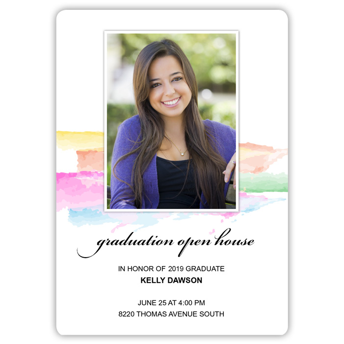 Painted Pastels - Focus in Pix Graduation Card