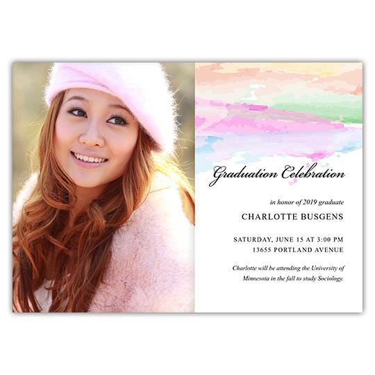 Painted Pastels - Focus in Pix Graduation Card