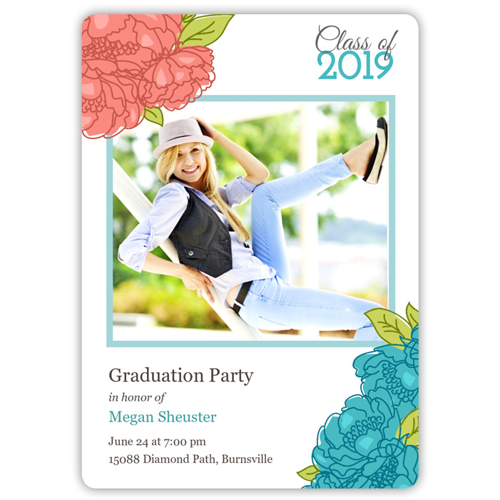 Spring Flowers - Focus in Pix Graduation Card