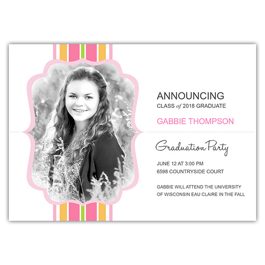 Striped Flair - Focus in Pix Graduation Card