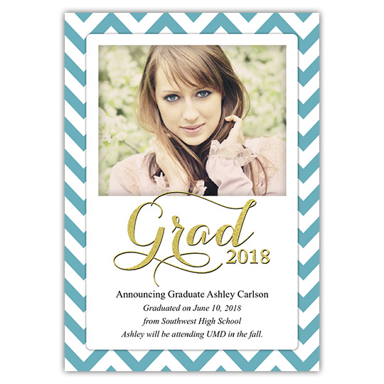 Zigzag - Focus in Pix Graduation Card