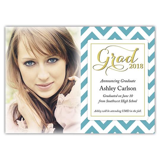 Zigzag - Focus in Pix Graduation Card